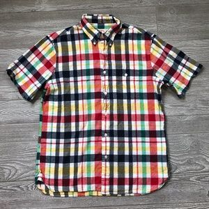 Brooks Brothers Plaid Button Shirt Men's XL P85